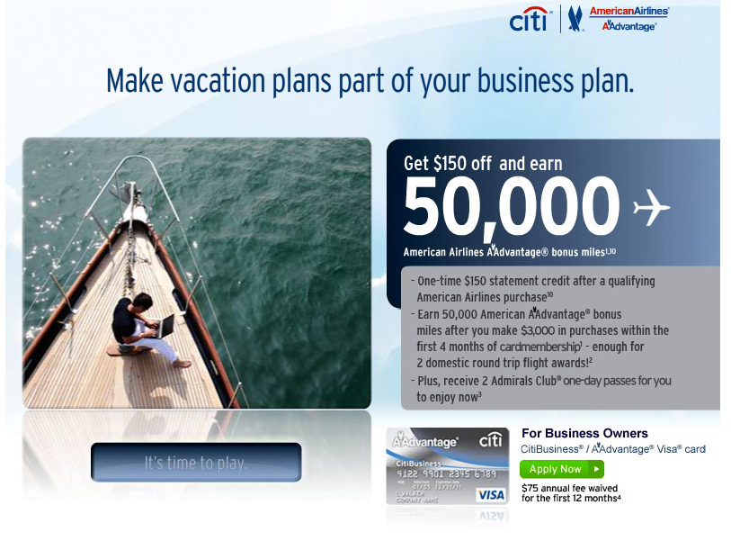 Getting the Citi/Business Visa could score you another 50,000 miles if you already have one/both of the personal cards.