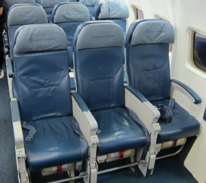 Delta's Economy Comfort seats onboard a 757-200ER.