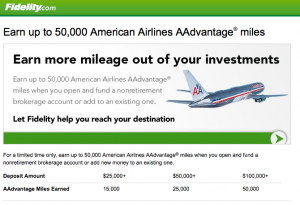 Earn 50,000 American Miles With Fidelity Before September 30, 2012