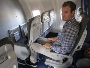 Even business class isn't big enough sometimes!
