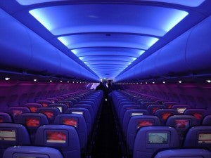Virgin America A320 interior