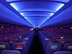 Virgin America A320 interior