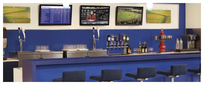 See what's on tap at Delta's Sky Club bars.