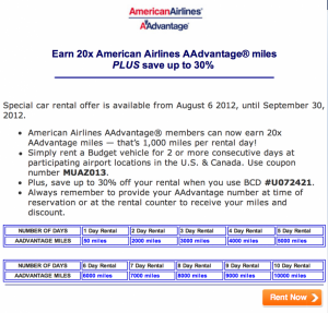 Saturday Recap: 10,000 American AAdvantage Miles with Budget, Marriott Cash and Points, LA Frequent Traveler University, 300 Priority Club Points