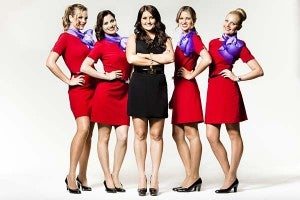 Feel free to ask a flight attendant - they're there to help!