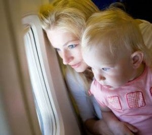 Be sure your electronic ticket does allow for a lap child.