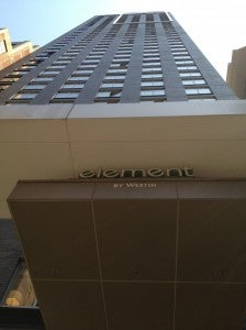 Exterior View of Element Times Square.