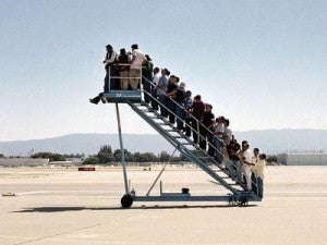 How often does trying to board a plane feel like this?