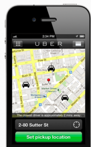 Uber is a great travel app where you can request a car and it will be there within minutes.