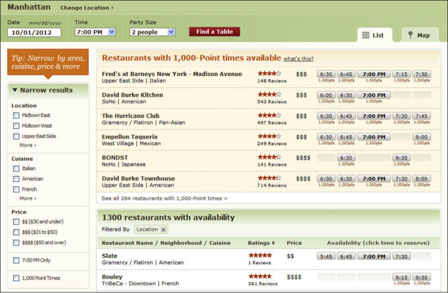 Maximizing points on dining spend with opentable rewards for Table 52 reservations