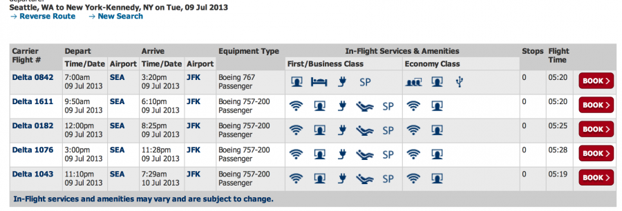 delta airlines flights schedules and fares