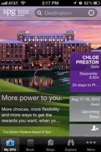 """Starwood's """"My SPG"""" functionality keeps you abreast of your points balance and other need-to-know info in one glance."""