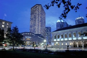 Exterior of the Westin Copley Place Boston Hotel.