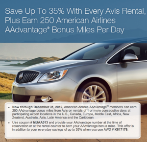 Saturday Recap: Bonus AAdvantage Miles with Avis, W Hotels Store Discount, United Upgrade Enhancements, American Airlines Flight Discount