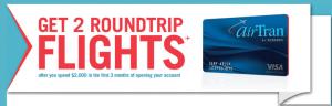 Chase AirTran Visa With 2 Roundtrip Sign Up Bonus