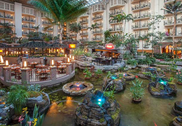The Opryland Hotel S Famous Indoor Atrium Gardens