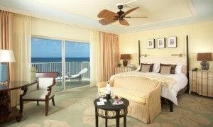 Diamond Head Ocean Front King guest room at The Kahala Hotel & Resort.