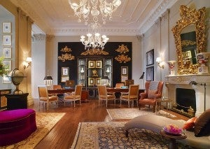 Guest reception area at the St. Regis Florence.
