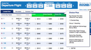 New Domestic 48 Economy Fare Choices