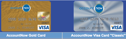 you can use green dot with the account now visa and gold cards - Accountnow Gold Visa Prepaid Card