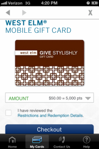 Amex West Elm Gift Card