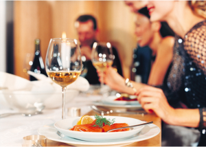 Dining out can mean tons of bonus points depending on which credit card you have.