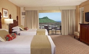 Double guest room at the Hyatt Regency Waikiki Beach Resort & Spa