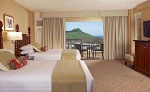Double guest room at the Hyatt Regency Waikiki Beach Resort & Spa