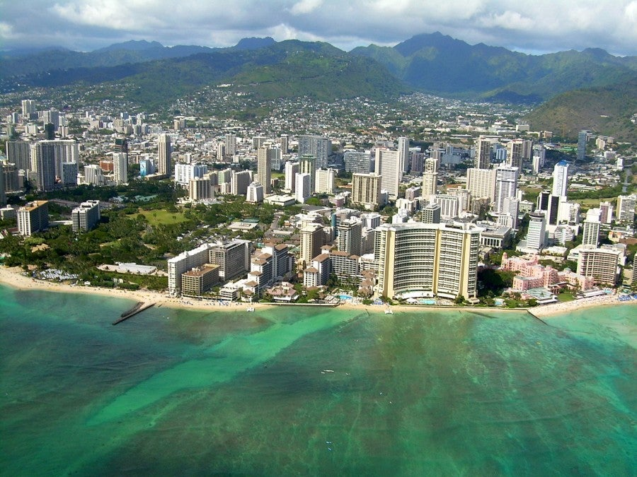 Waikiki is home to many of the islands' resorts.