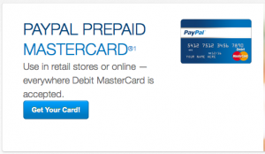 Use PayPal to reload your PayPal Prepaid Mastercard.