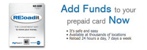 You can use REloadit with 15 different compatible prepaid cards.