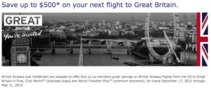 Up To $500 Off British Airways Flights With Rue La La This Week