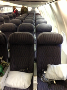 Coach passengers receive compleimenatry pillows and blankets as well.