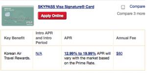 SkyPass Visa Signature
