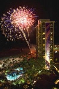 The Hilton Hawaiian Village Waikiki Beach Resort offers fireworks on Friday nights