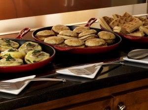 The Hyatt Place Waikiki Beach offers a free skillet breakfast for guests