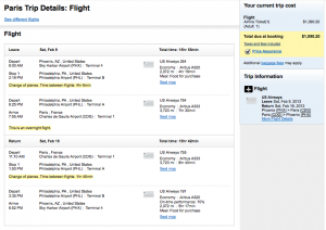 The same itinerary on Orbitz was $60 more total.
