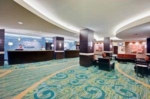 Lobby area at the Holiday Inn Waikiki Beachcomber.