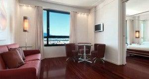 Junior suite at the Hilton Florence Metropole.