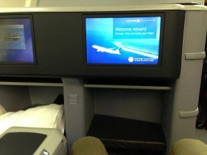 Lots of legroom and personal video monitors.