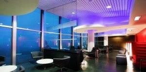 Virgin's new Loft at LAX has runway views.