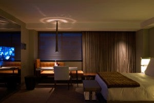 The rooms at the SLS Beverly Hills tend to be too dark for my taste.