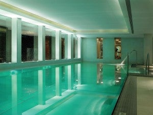 Indoor pool area at the Ritz-Carlton Vienna.
