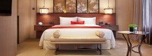 King guest room at Twelve at Hengshan, Shanghai.