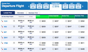 Another aspect of Choice Fares I love is that you can buy them per-leg for half price.