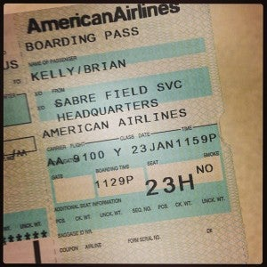 """My """"boarding pass"""" to the special viewing."""