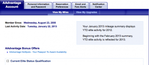 Always check your account after travel to make sure miles have been credited.
