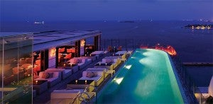 Azur poolside restaurant and lounge.