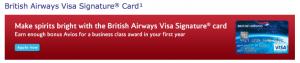 BA Visa Offer