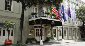 Exterior of the Bienville House Hotel.